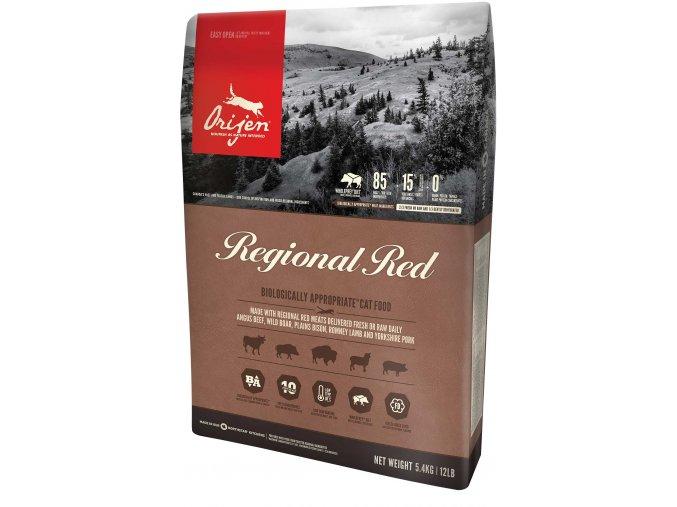 Regional red cat přední strana