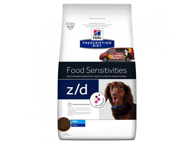Hills canine diet zd mini