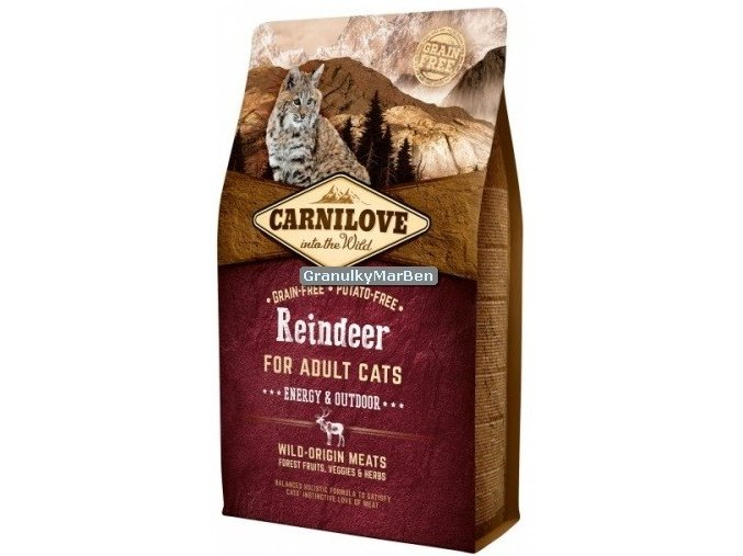 carnilove cat reindeer energy outdoor
