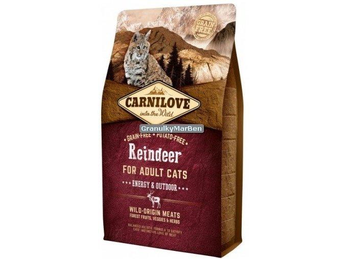 carnilove cat reindeer energy outdoor
