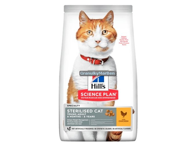 hills feline sterilised cat young adult chicken