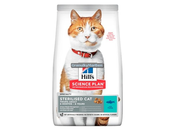 hills feline sterilised cat young adult tuna