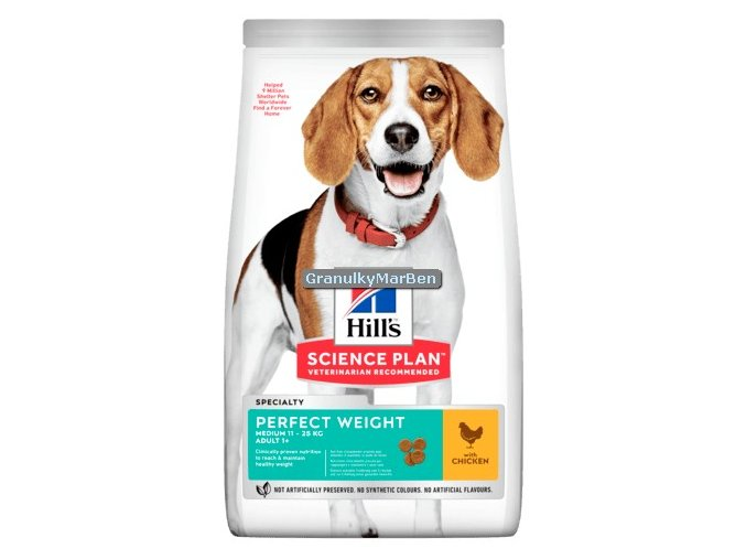 Hills sp canine adult medium perfect weight