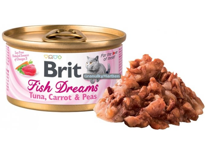 konzerva Brit Fish Dreams Tuna Carrot Peas