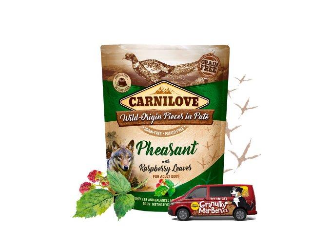 Kapsicka Carnilove Pheasant raspberry leaf