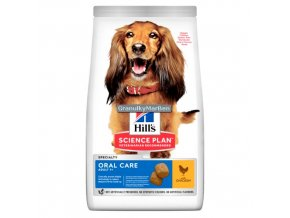 hills canine science plan adult oral care chicken