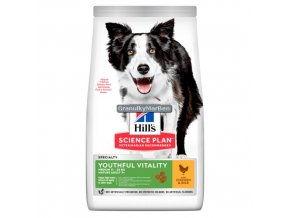 hills canine science plan adult 7 plus youthful vitality medium breed with chicken and rice