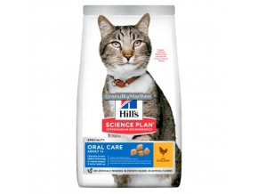 hills feline adult oral care chicken