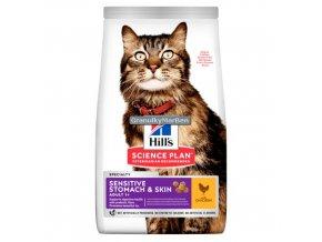hills feline science plan sensitive stomach skin