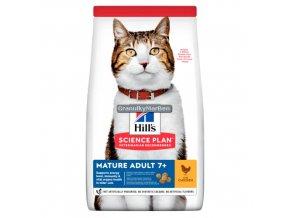 hills feline science plan mature adult 7 plus active longevity chicken