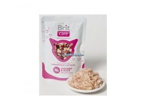 Kapsička Brit Care Cat Pouch Chicken and Duck 80g