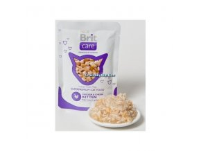 Kapsička Brit Care Cat Pouch Kitten Chicken and Cheese 80g