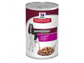 hills canine science plan adult formula savoury beef