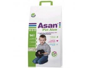Asan Pet Aloe Podestýlka pro hlodavce a králíky 14l