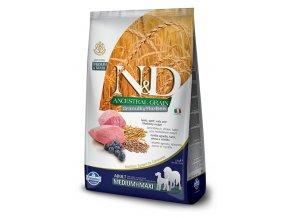 ND Low ancestral Grain canine adult medium maxi lamb
