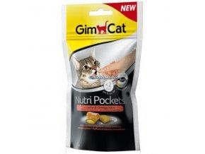 Pamlsky GimCat Nutri Pockets Losos a omega 3 a 6 60g