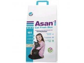 Asan Cat Fresh Blue Podestýlka pro krátkosrsté kočky 10l