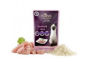 Kapsička Nuevo Kitten Drůbeží s rýží 85g
