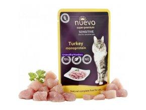 Kapsička Nuevo Cat Sensitive Krůtí monoprotein 85g