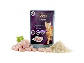 Kapsička Nuevo Cat Sterilized Drůbeží s rýží 85g