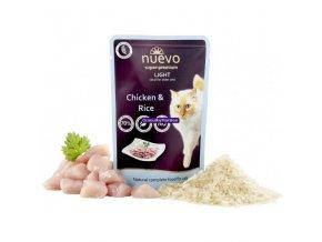 Kapsička Nuevo Cat Light Kuře s rýží  85g