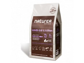 Naturea Grain Free Cat Lands - All Breeds all Lifestages 2kg