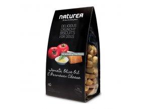 Sušenky Naturea Grain Free Rajče,olivový olej a parmazán 230g