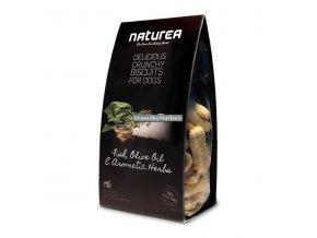 Sušenky Naturea Grain Free Ryby, olivový olej a bylinky 230g