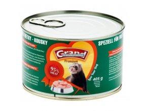 Grand konzerva Fretka masové kousky 405g