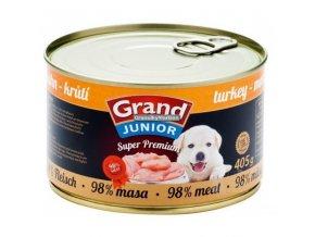 Grand konzerva Superpremium Junior pes Krůtí 405g