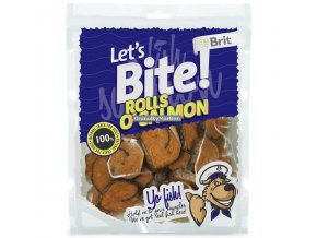 Brit Let's Bite Rolls o'Salmon 80g