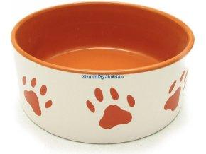 Miska keramicka s oranzovymi tlapkami