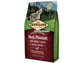 carnilove cat duck pheasant hairball control
