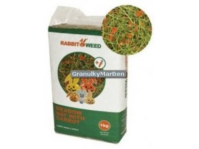 Seno RabbitWeed s mrkvi 1kg 40l