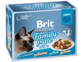 Brit Premium Cat Pouch Family Plate Gravy