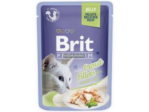 Brit Premium Cat Pouch with Trout Fillets in Jelly for Adult Cats