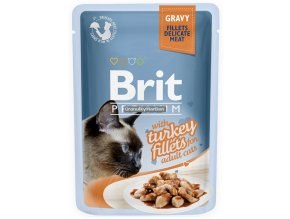 Brit Premium Cat Pouch with Turkey Fillets in Gravy for Adult Cats