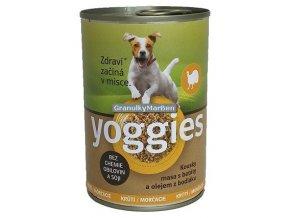 yoggies kruti konzerva pro psy s bataty a bodlakovym olejem 400g