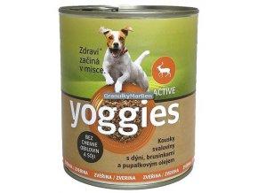 yoggies zverinova konzerva pro psy s dyni a pupalkovym olejem 800g