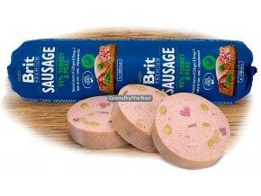Brit Premium Sausage turkey peas