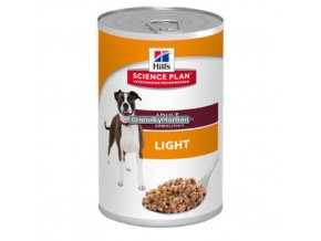 konzerva hills canine adult light with chicken