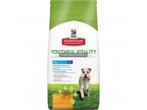 hills canine science plan adult 7 plus youthful vitality mini with chicken and rice