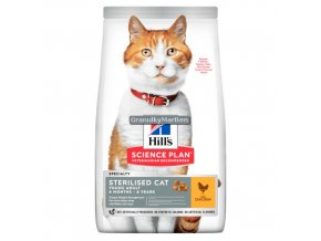 hills feline science plan sterilised cat young adult chicken