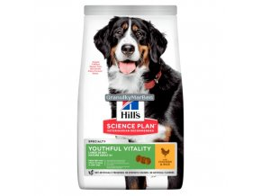 hills canine science plan adult 5 plus youthful vitality large breed with chicken and rice