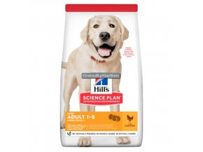 hills canine science plan adult light large breed chicken