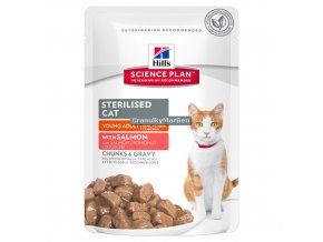 hills feline science plan sterilised cat young adult salmon