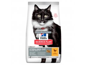 hills feline science plan mature adult 7 plus sterilised cat chicken
