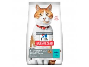 hills feline science plan sterilised cat young adult tuna