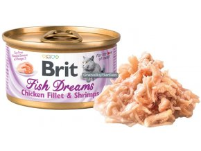 konzerva Brit Fish Dreams Chickne Shrimps