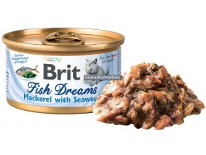 konzerva Brit Fish Dreams Mackerel Seaweed